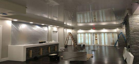 DIY stretch ceiling canvas fabric membrane eco friendly