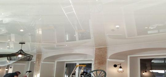 no crown molding DIY stretch ceiling canvas fabric membrane