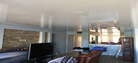 DIY stretch ceiling canvas fabric membrane smoke detector