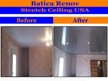 Michigan I install stretch ceiling membrane suspended film fabric
