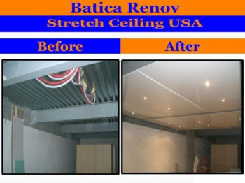 Iowa reflective ceiling membrane fabric stretch ceiling